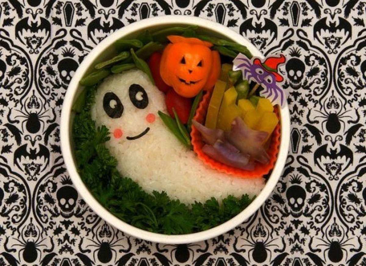 Healthy Halloween treats, bowl of veggies