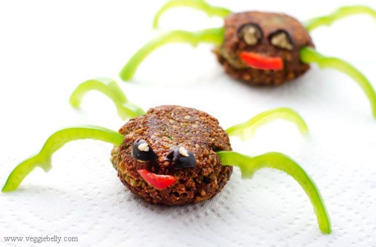 Healthy Halloween treats, spiders
