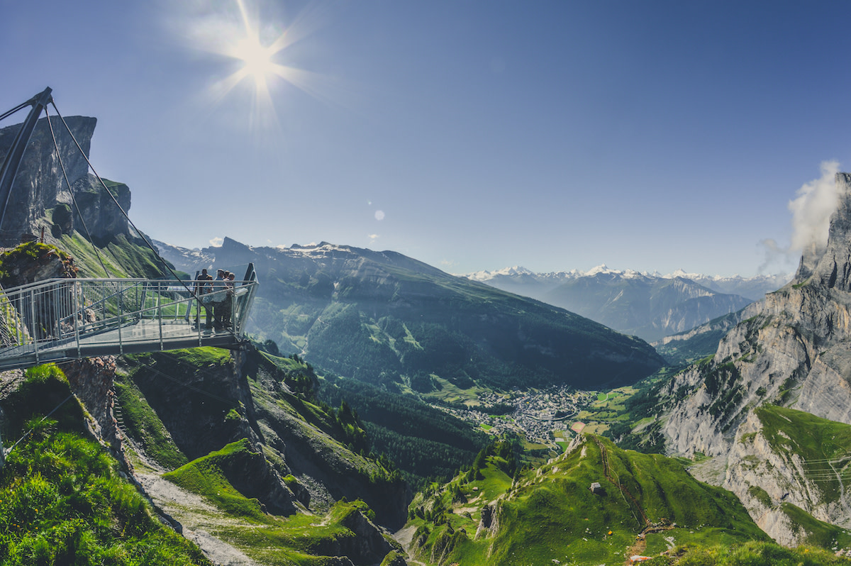 Leukerbad Gemmi Panorama