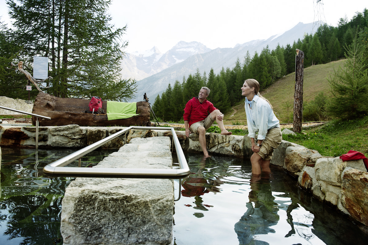 Kneipp tour in Saas Fee Switzerland