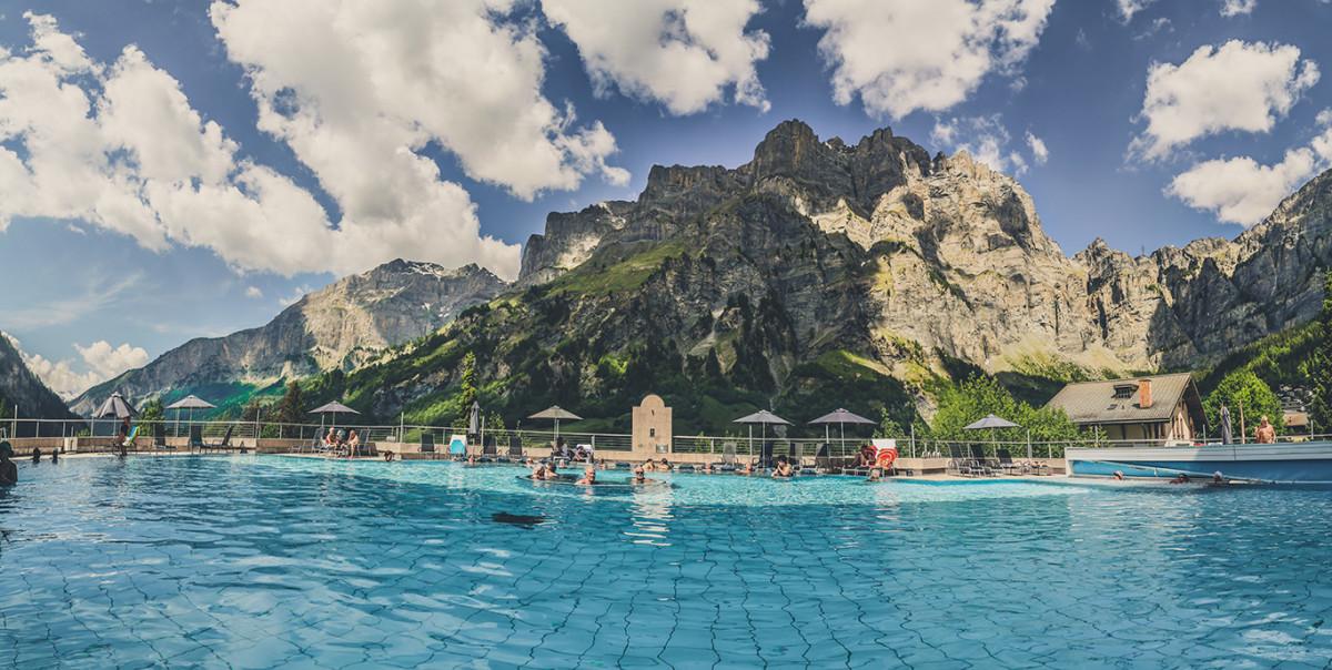 Thermal baths in Leukerbad Switzerland