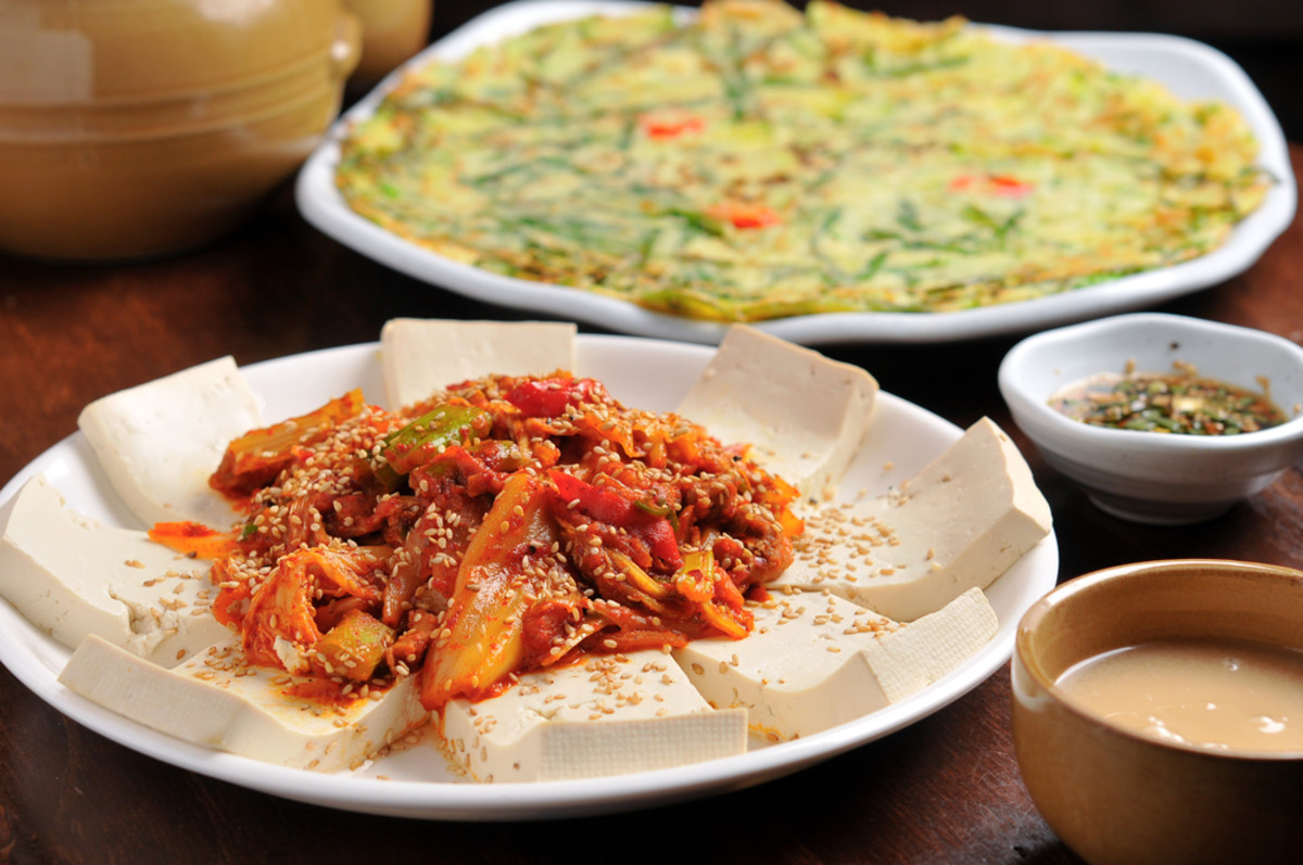 spicy vegetarian recipes - kimchi