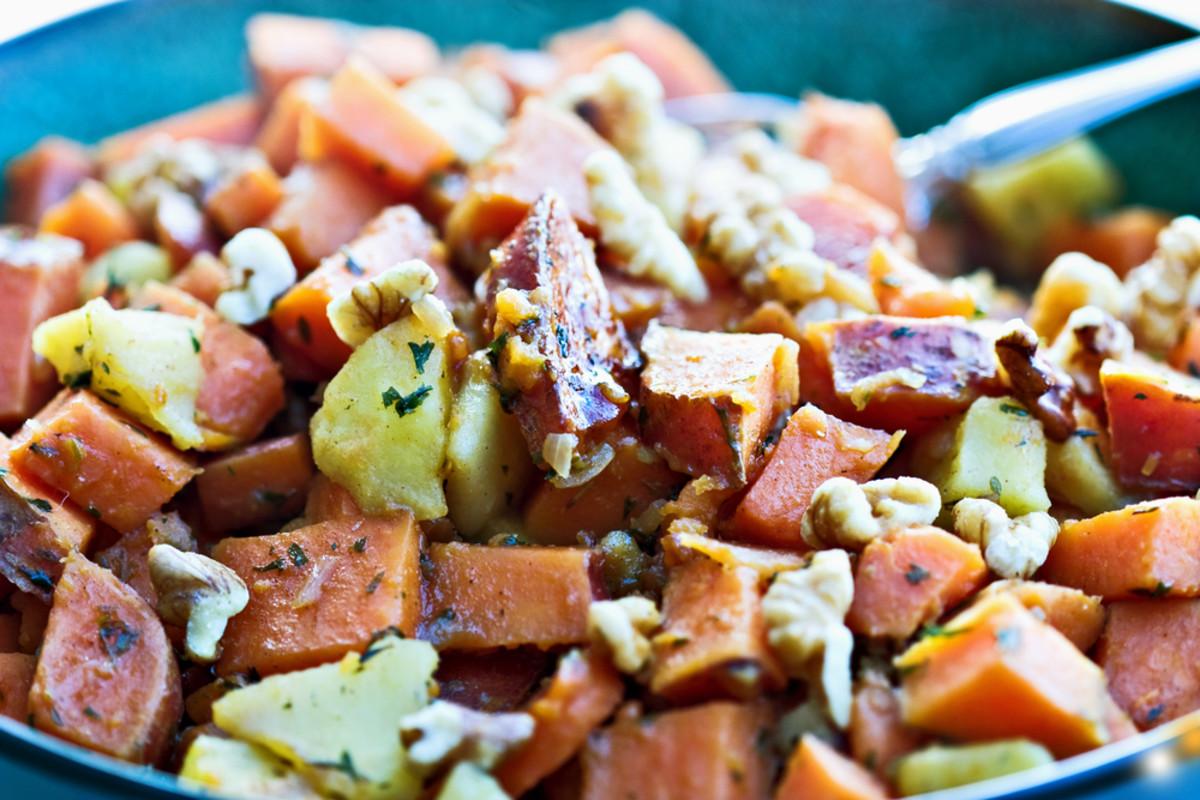 Vegan sweet potato salad recipe