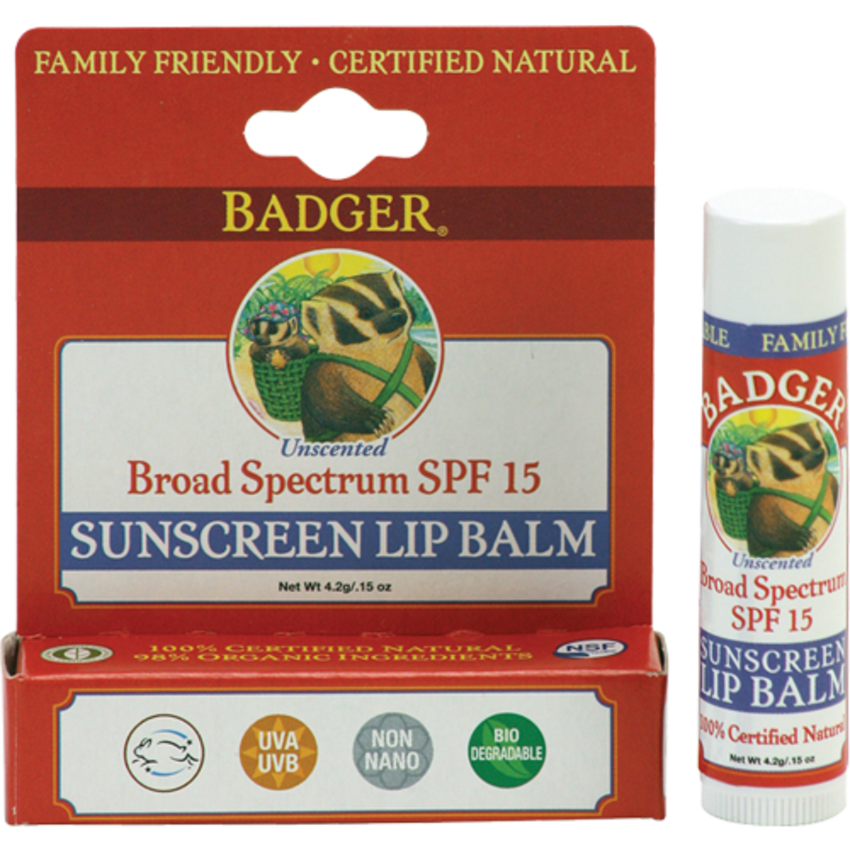 Badger Sunscreen Lip Balm