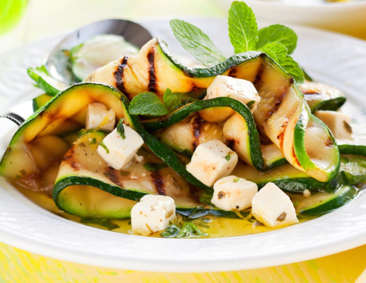 zucchini and feta salad