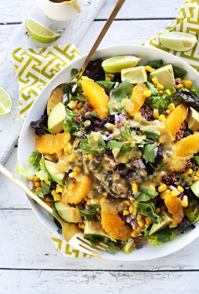 vegan mexican quinoa salad