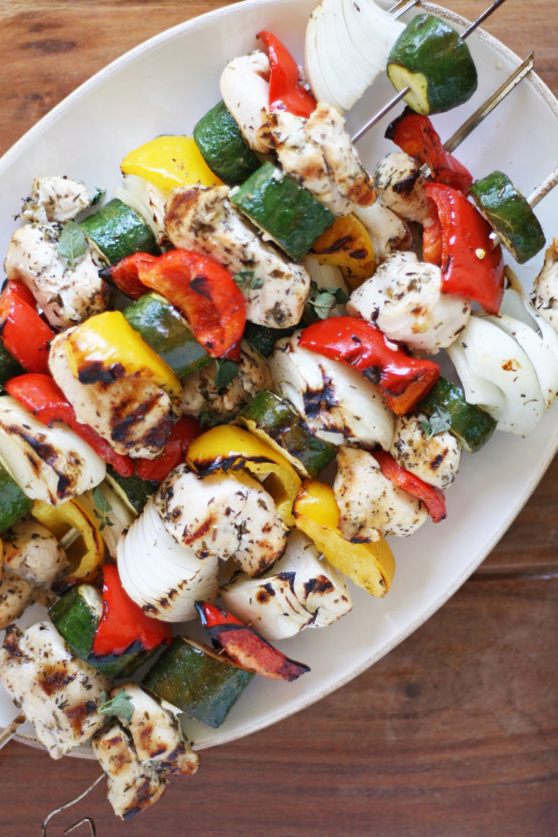 Chicken Kabobs and Herbed Chimichurri Recipe (Hello Summer BBQs!)