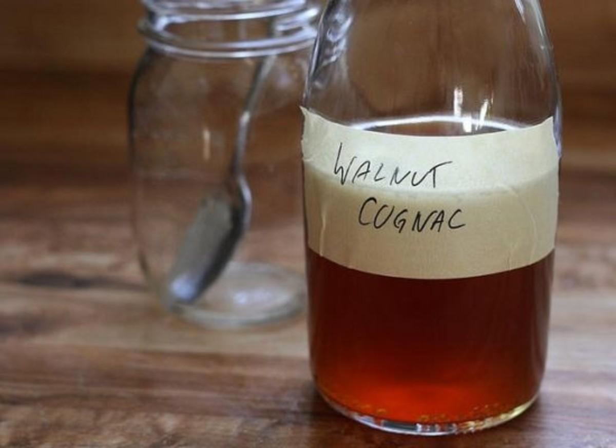 walnut cognac infusion