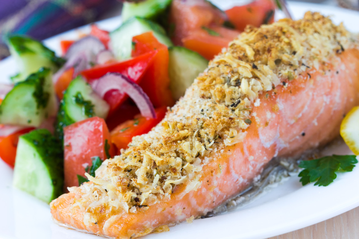 Paleo Coconut-Crusted Salmon Recipe with Honey Mustard