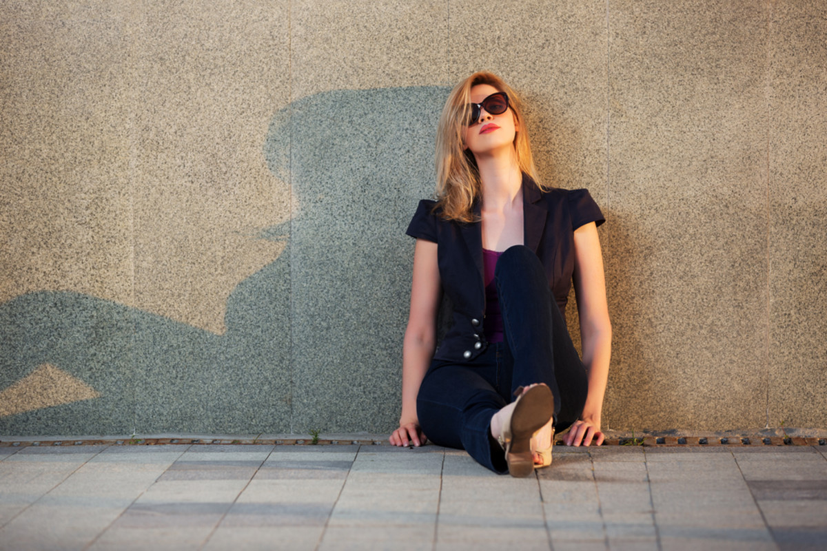 depressed woman image