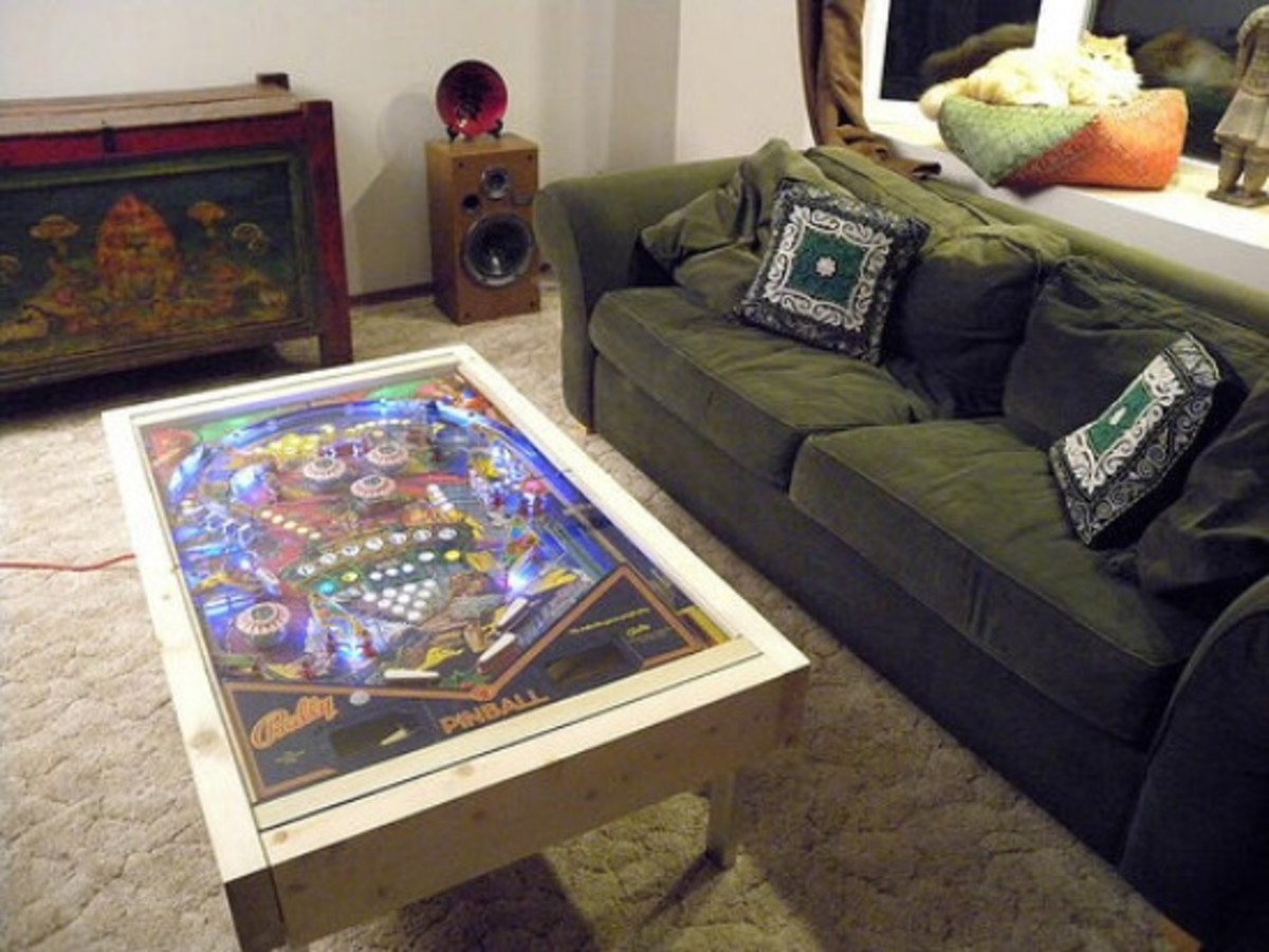 pinball coffee table