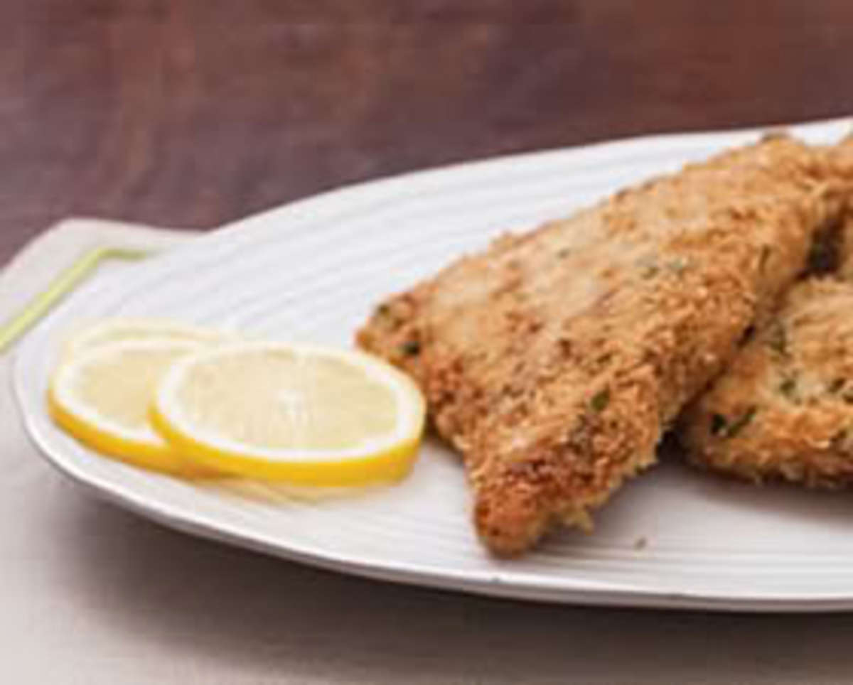 Bobby Flay's Stuffing Crusted Turkey Cutlets