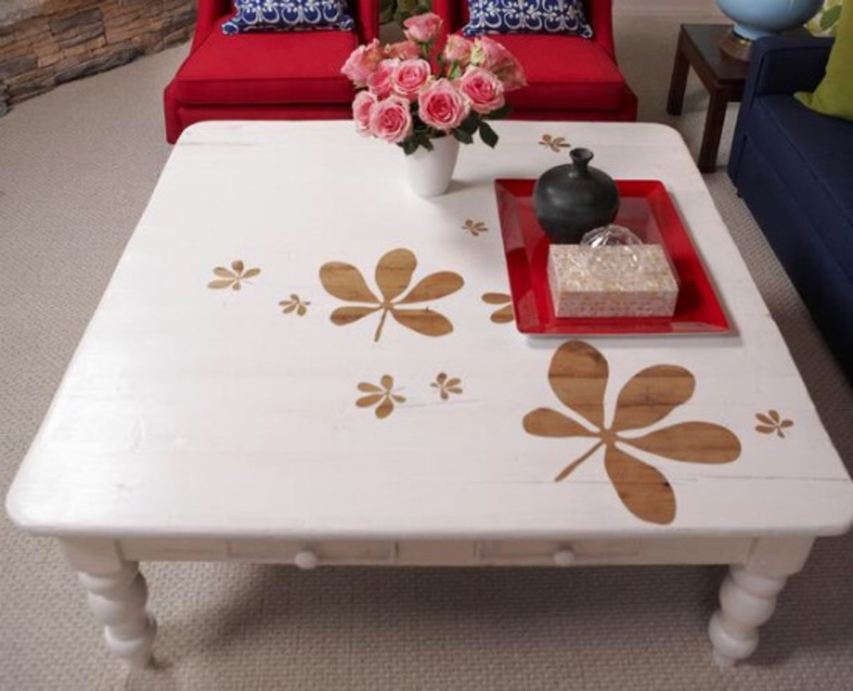 reverse stencil coffee table