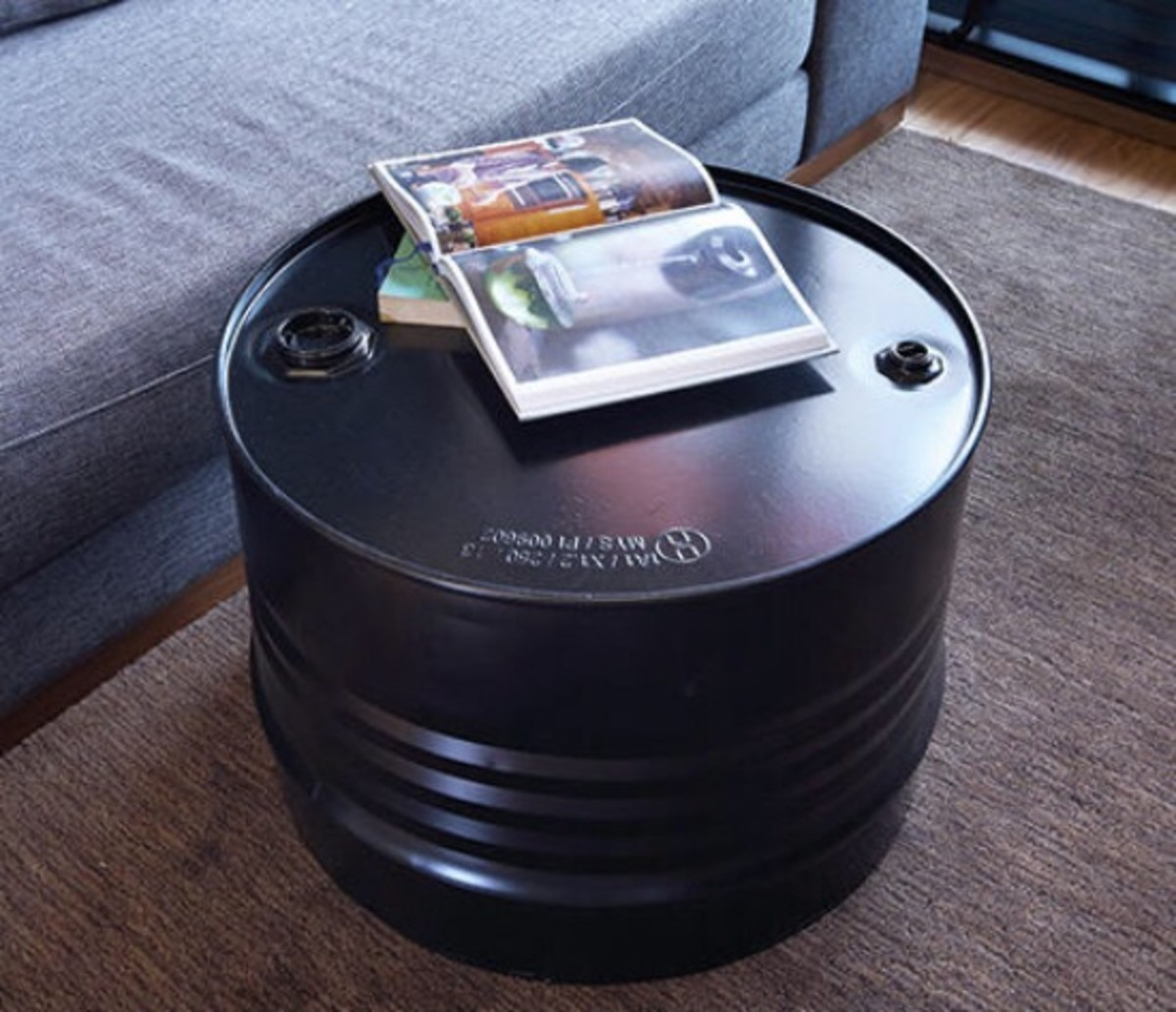 oil barrel coffee table