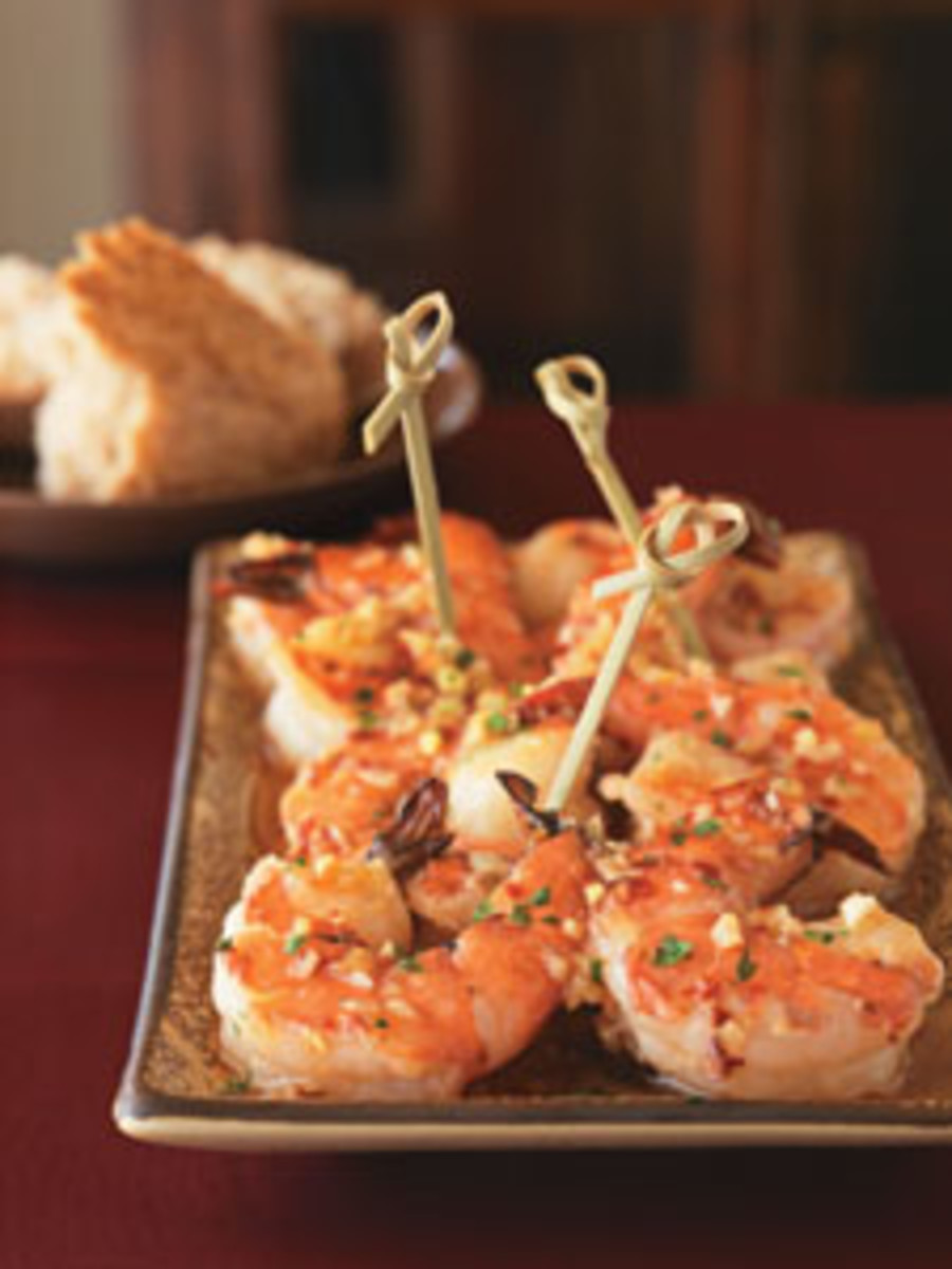 anna getty sake shrimp