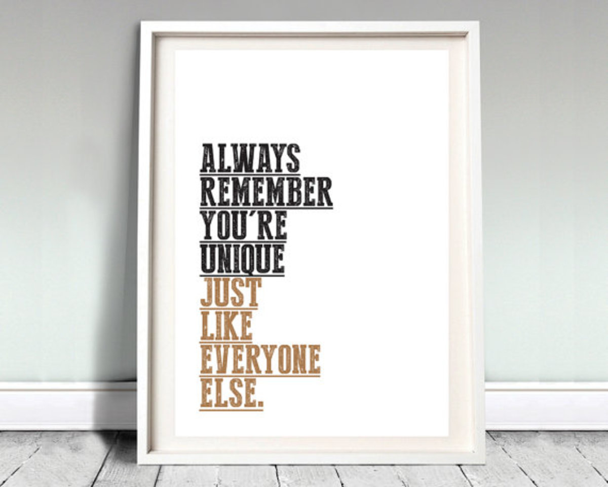 Pithy sayings and quotes prints and posters.