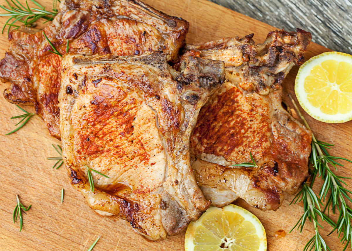 pork chops with lemon and rosemary