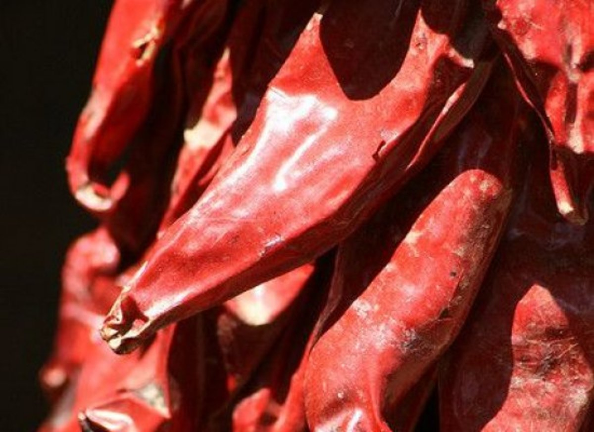 Sun dried peppers