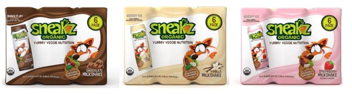 Sneakz Organic Milkshakes - all 3