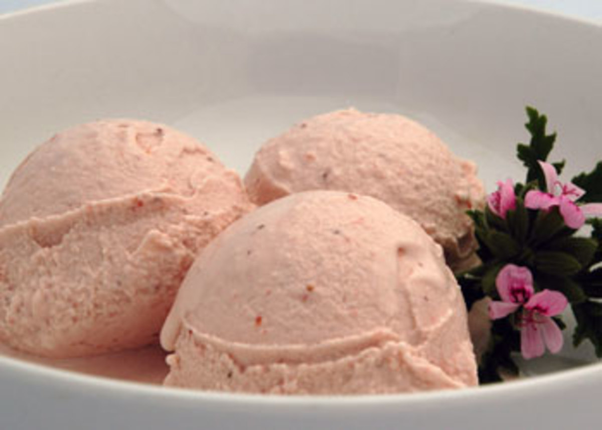 Organic-Strawberry-Rose-Geranium-Ice-Cream