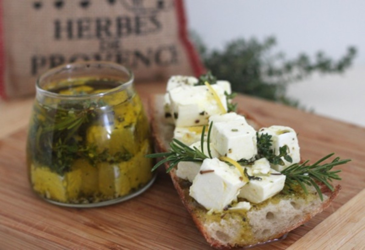 Feta Marinated in Olive Oil