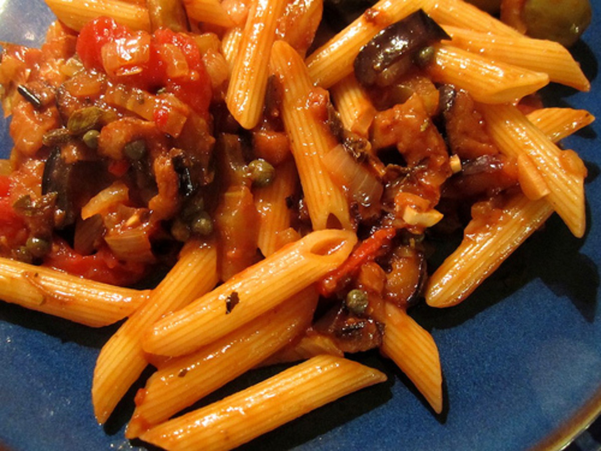 Pasta with caponata