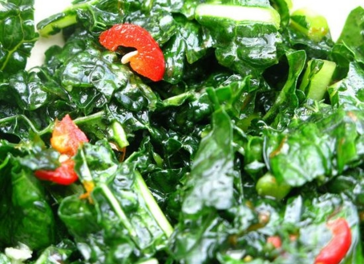 Green salad recipe, superfood