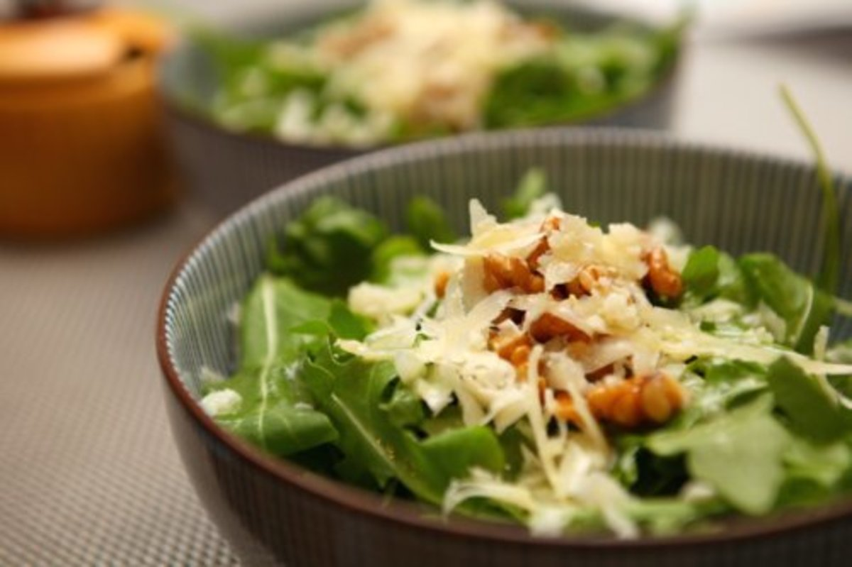 Green salad recipes, spring greens