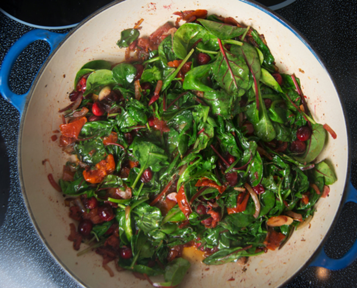 Green salad recipes, wilted