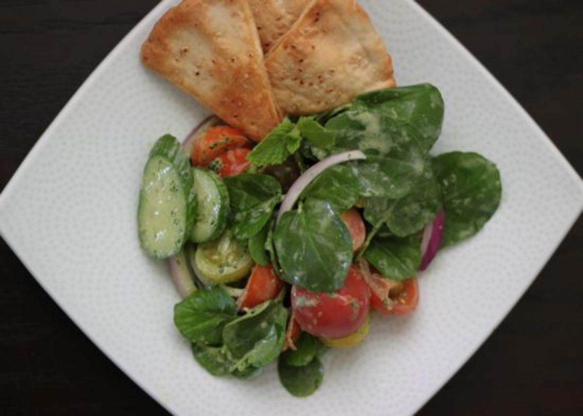 Green salad recipes, watercress