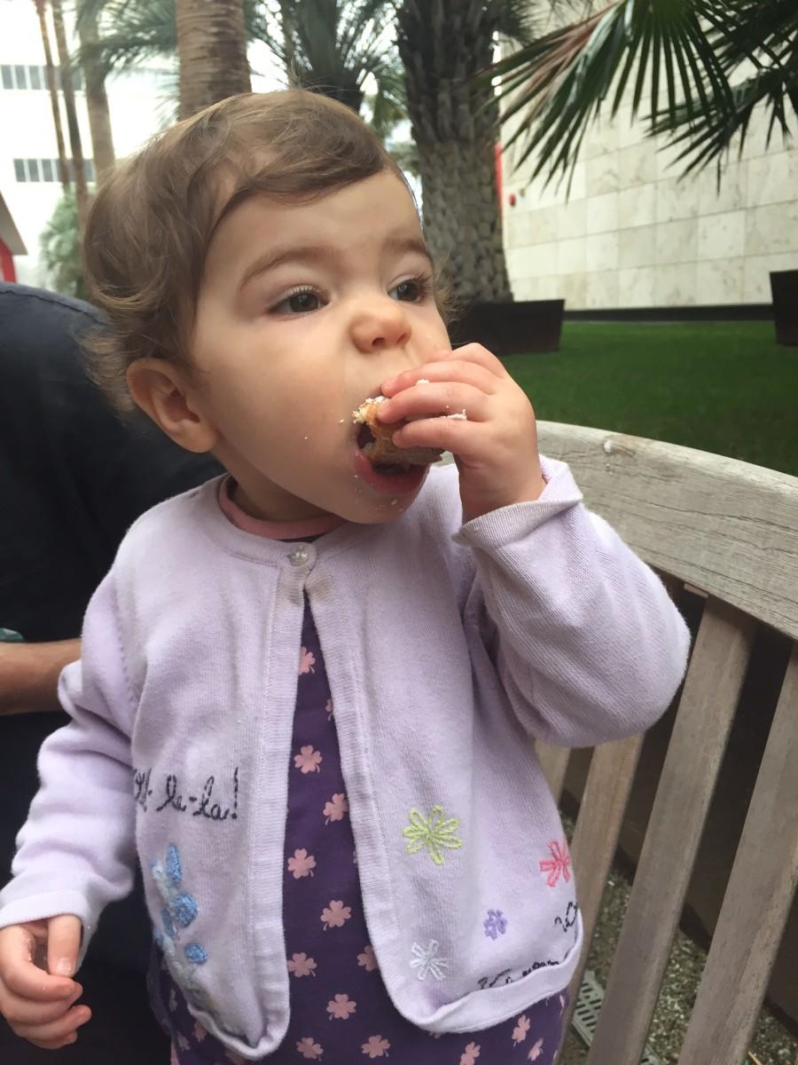 My daughter Imogene enjoying Vromage at LACMA