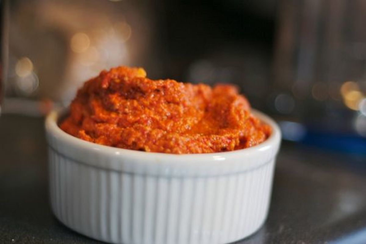 Sun dried tomato spread