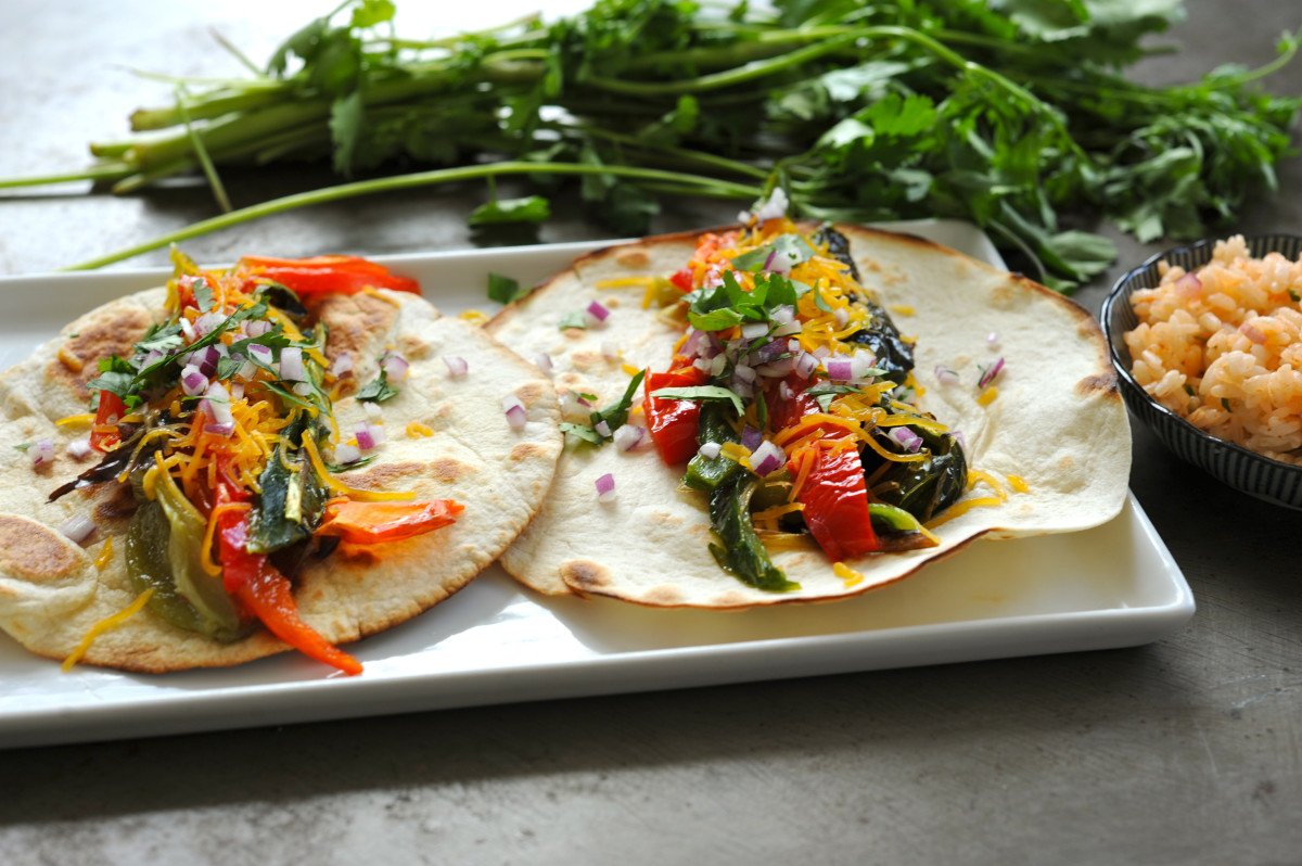 Vegetarian Tacos Recipe with Roasted Cubanelle and Poblano Peppers