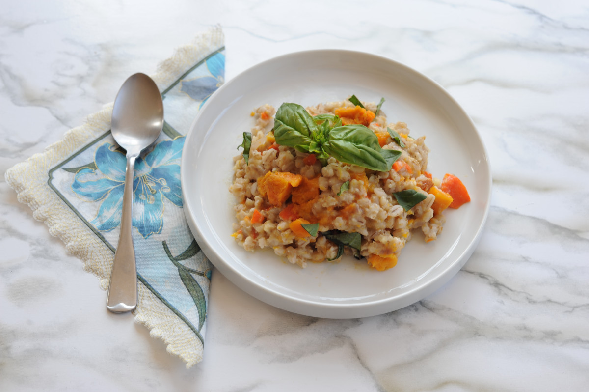 ... creamy and easy risotto recipe with roasted sweet potato and