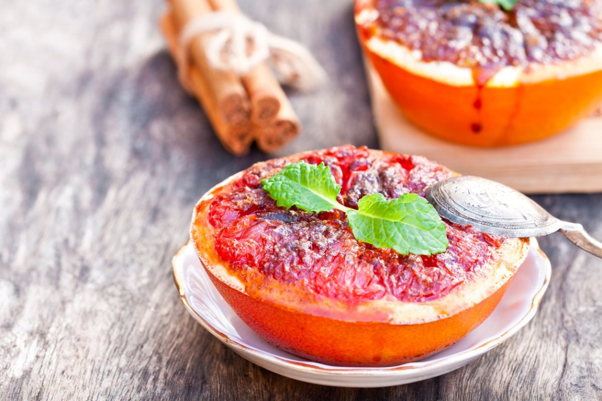 Broiled Grapefruit with Cinnamon