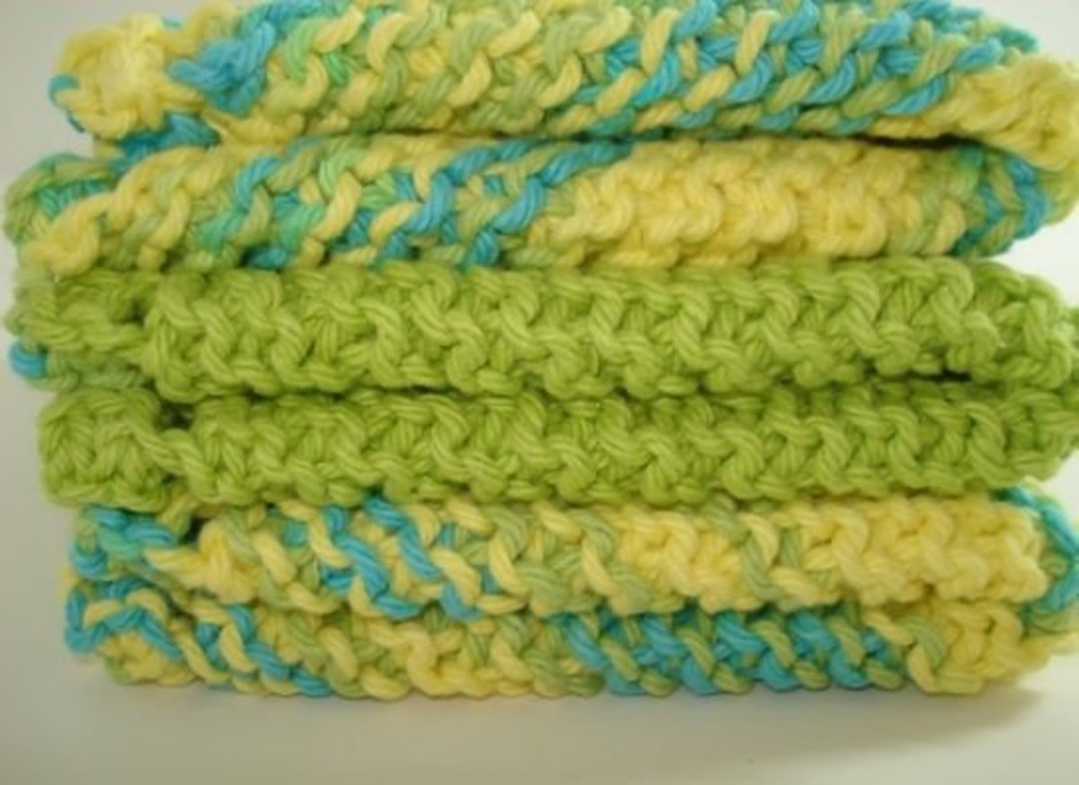 knit dish towels