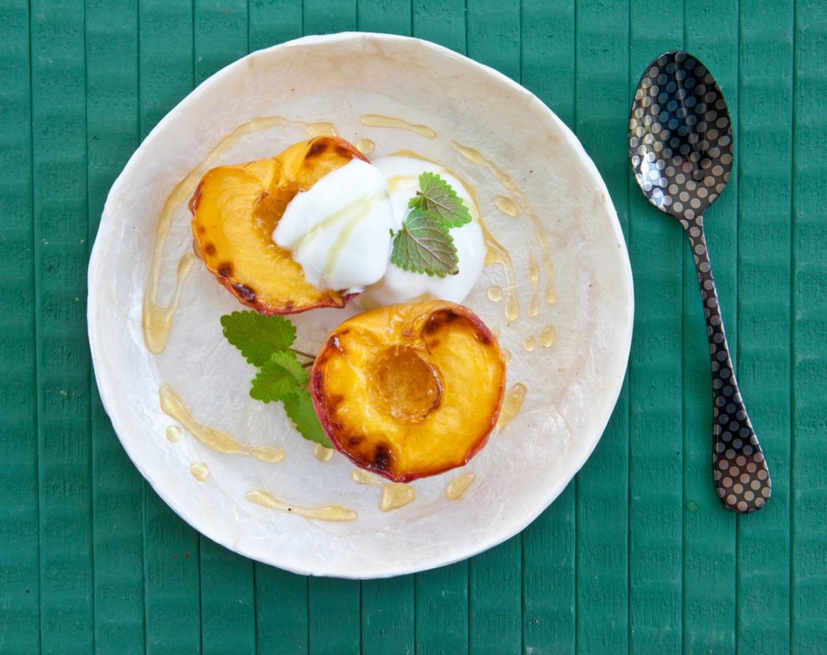 grilled peach photo