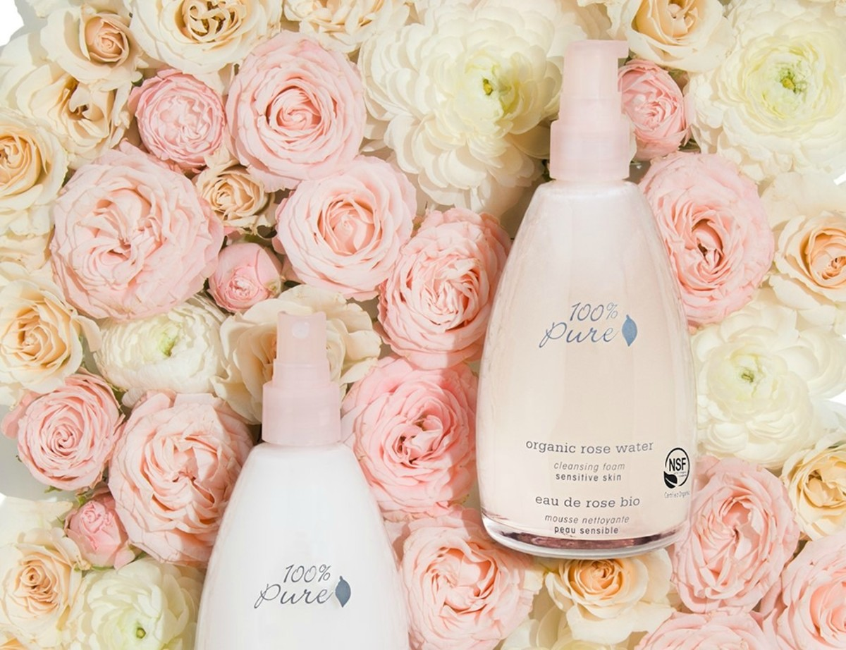 100% Pure Organic Rose Water Skincare