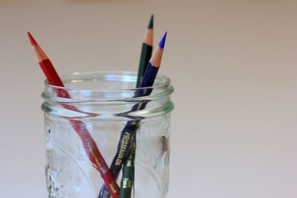 mason jar pencils