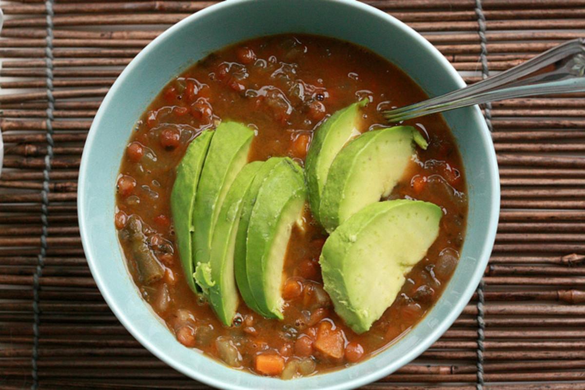 A bowl of soup