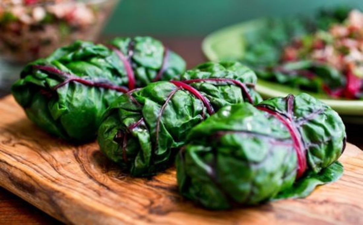Conscious eating, stuffed chard