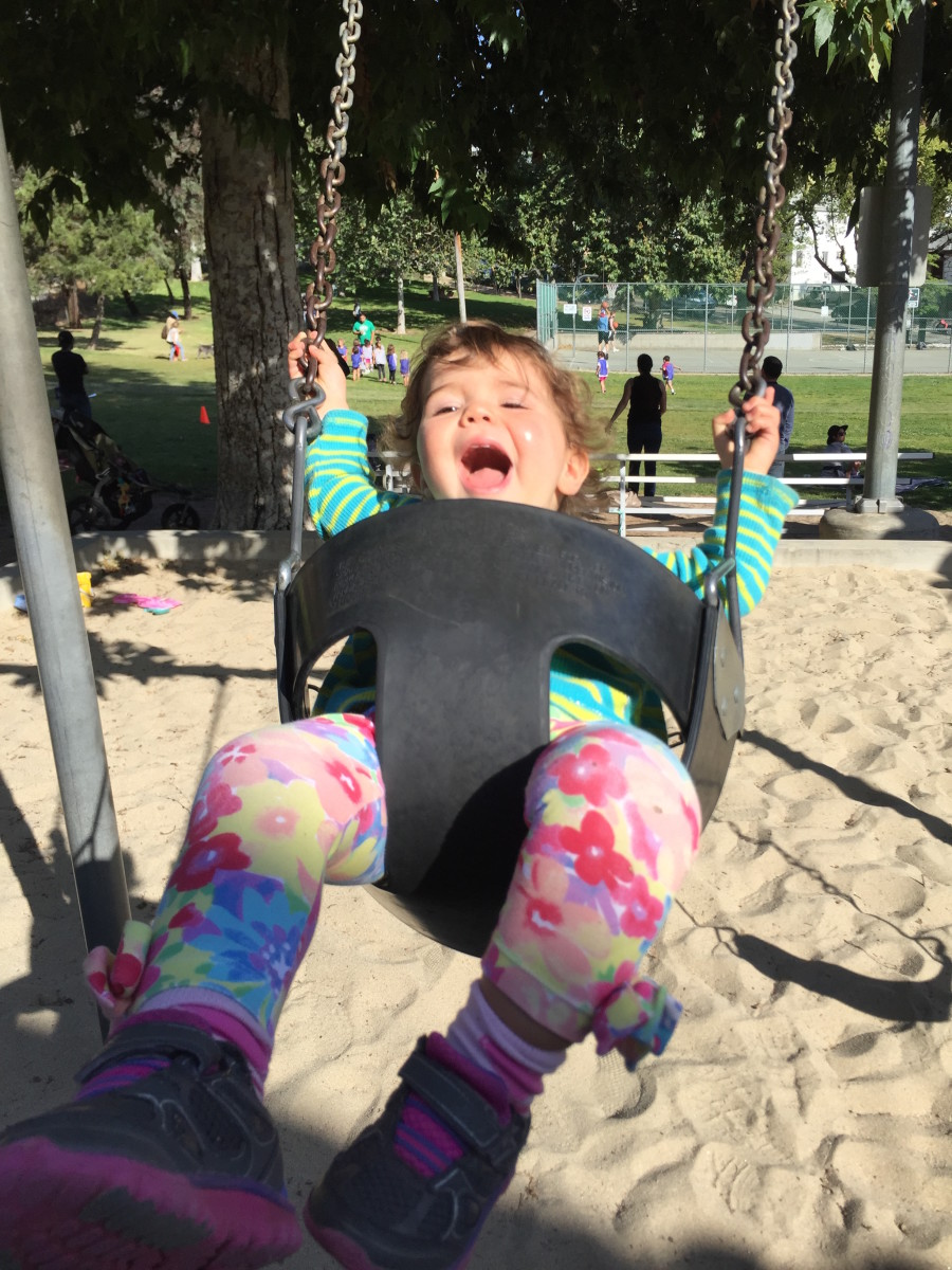 Getting Her Daily Germs: Why I Let My Daughter Lick Playground Equipment