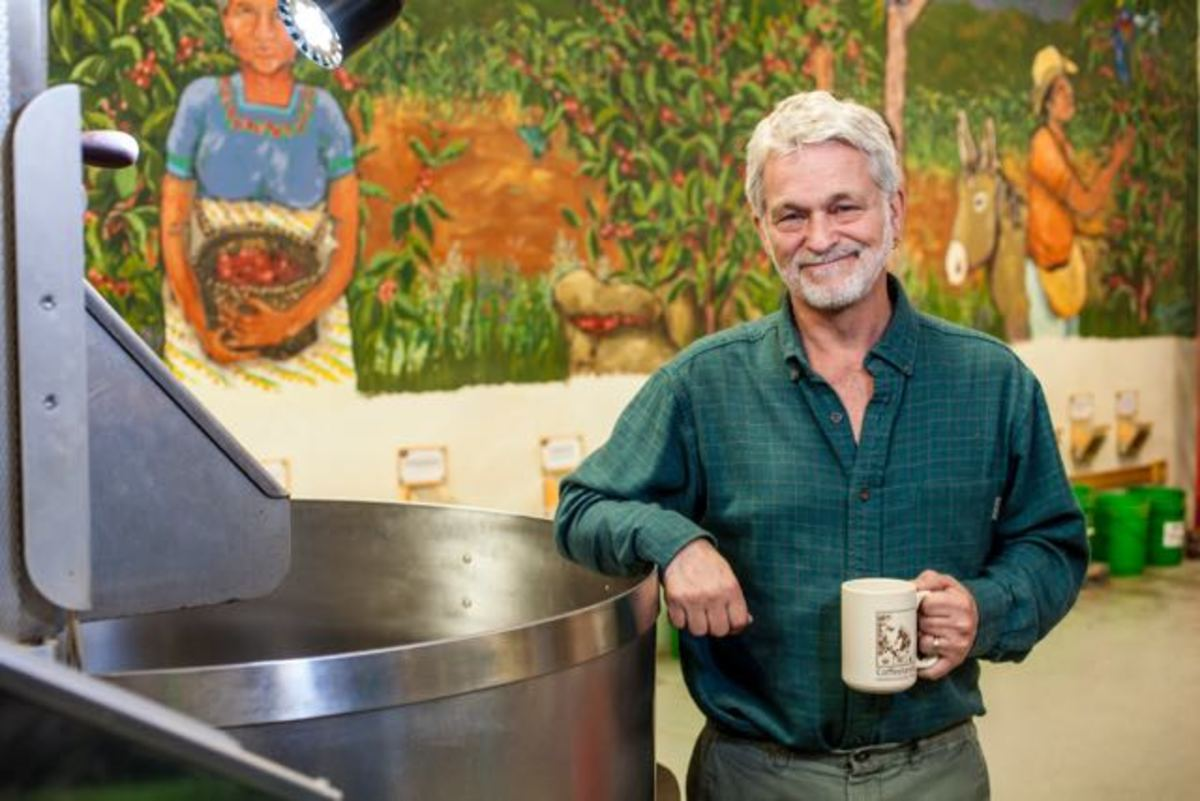 He makes conscious coffee.