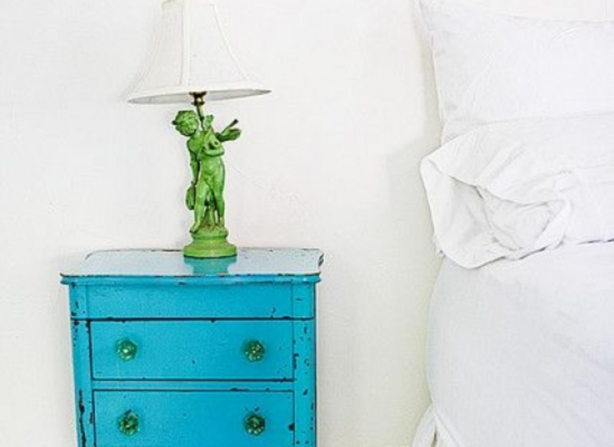 blue nighstand