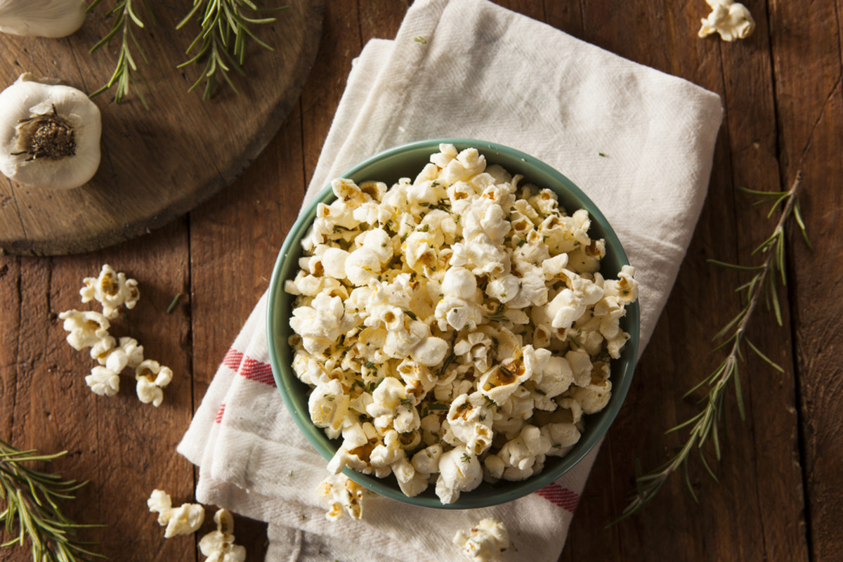 Healthy snacks, popcorn