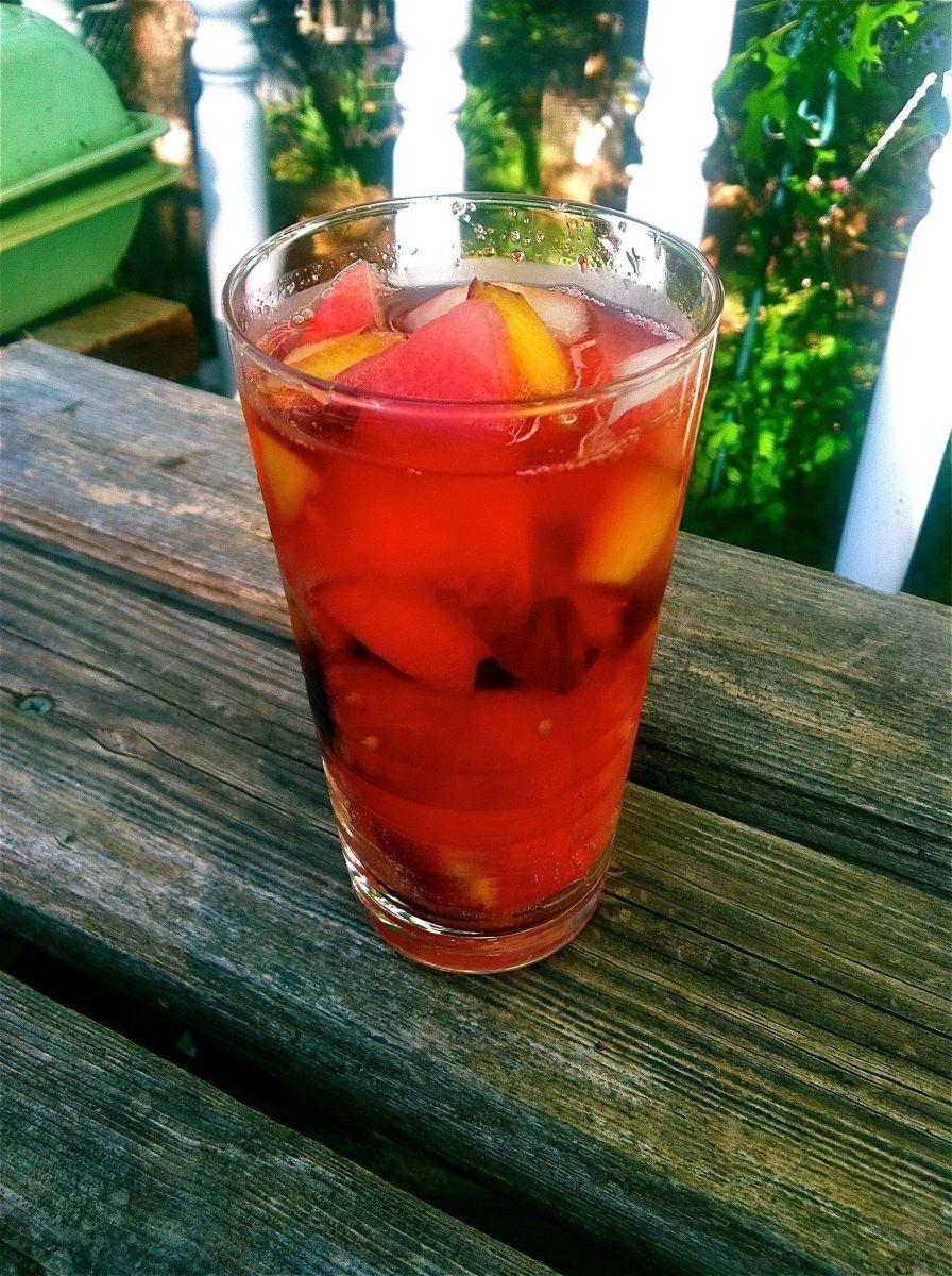 Glass of sangria