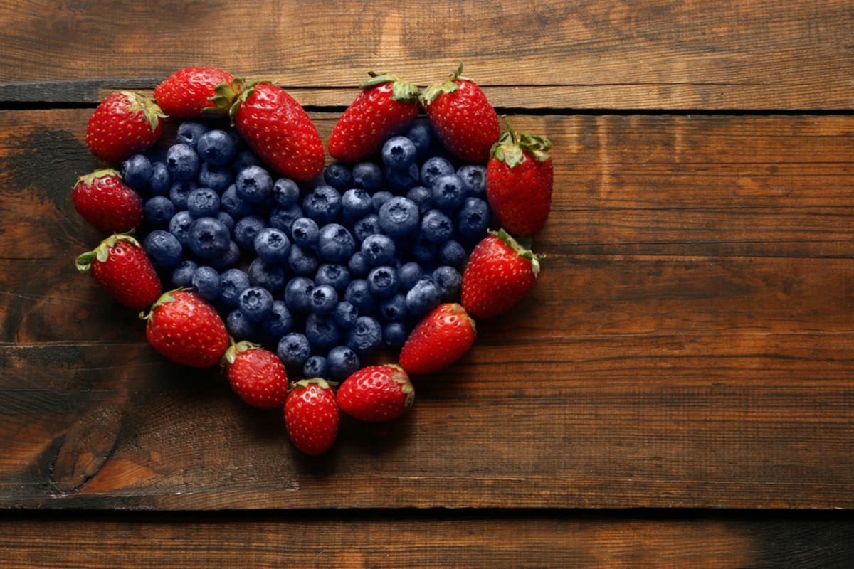 Healthy snacks, blueberry