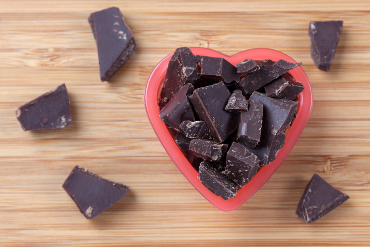 Healthy snacks, chocolate