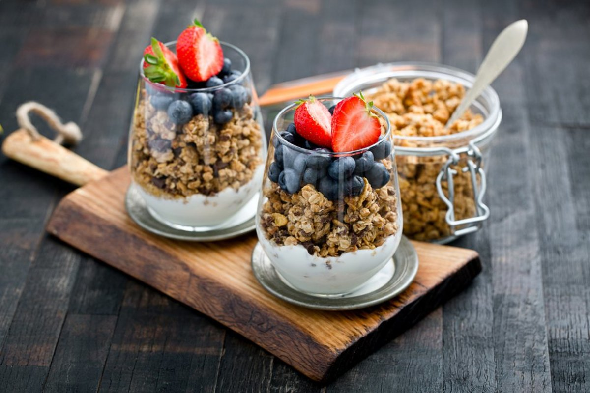 Healthy snacks, granola