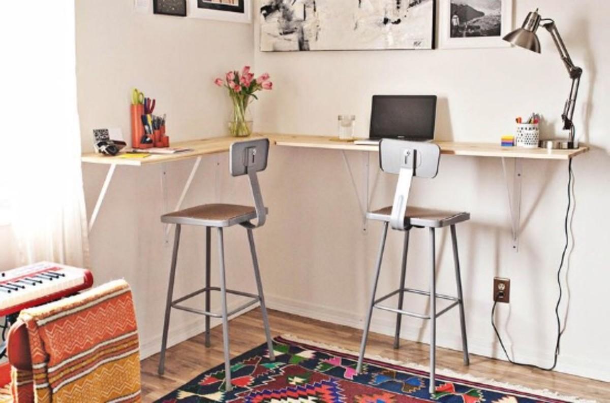 standing corner desk